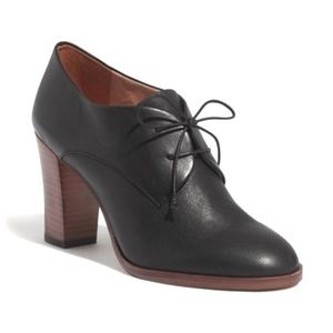 Madewell Bette Oxford Laced Up Heeled Booties 8.5